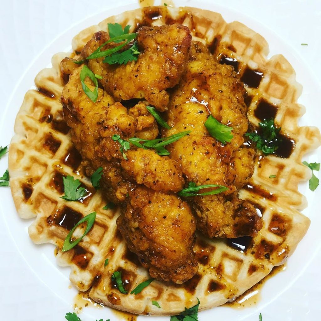 BESTO Hot Honey Chicken and Waffles